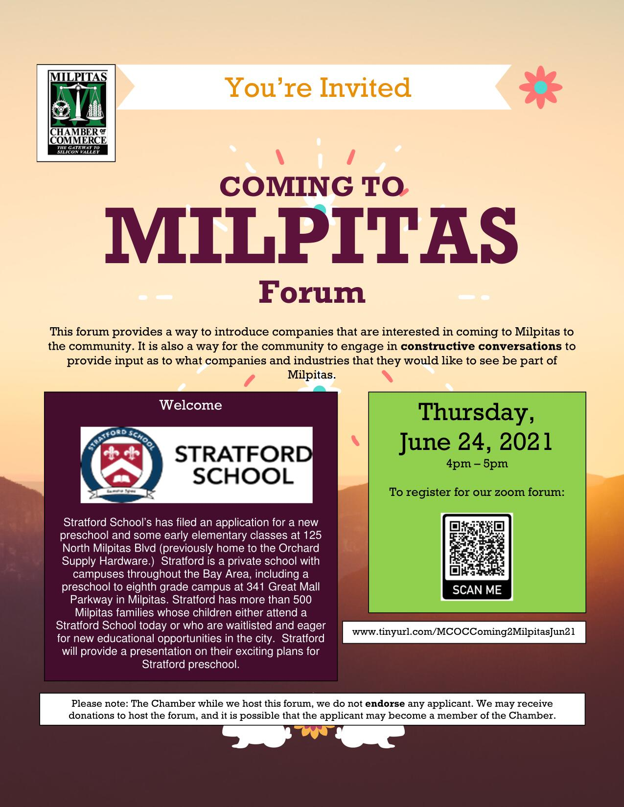 June Coming to Milpitas