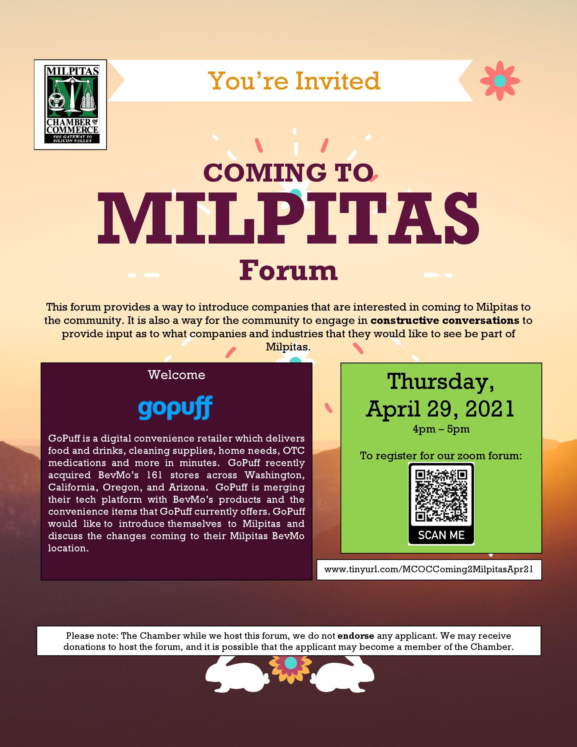 Coming to Milpitas