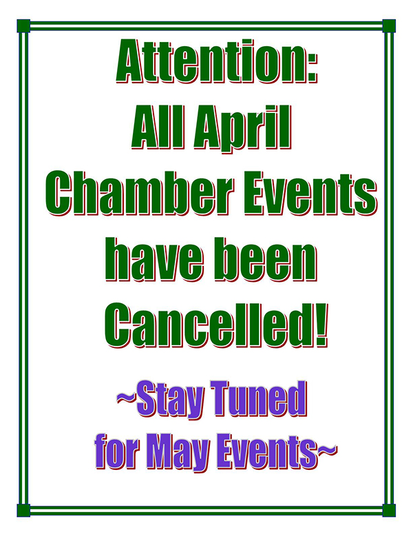 April Events Cancelled