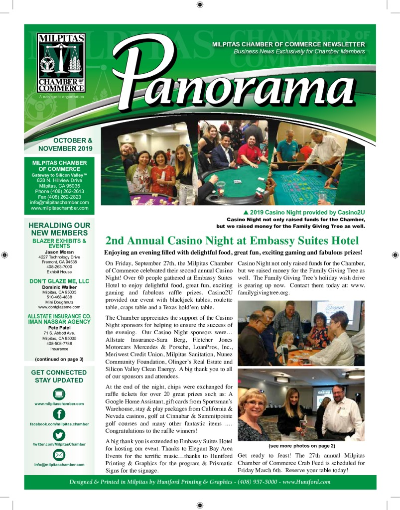 thumbnail of Milpitas Chamber of Commerce Newsletter Oct-Nov 2019