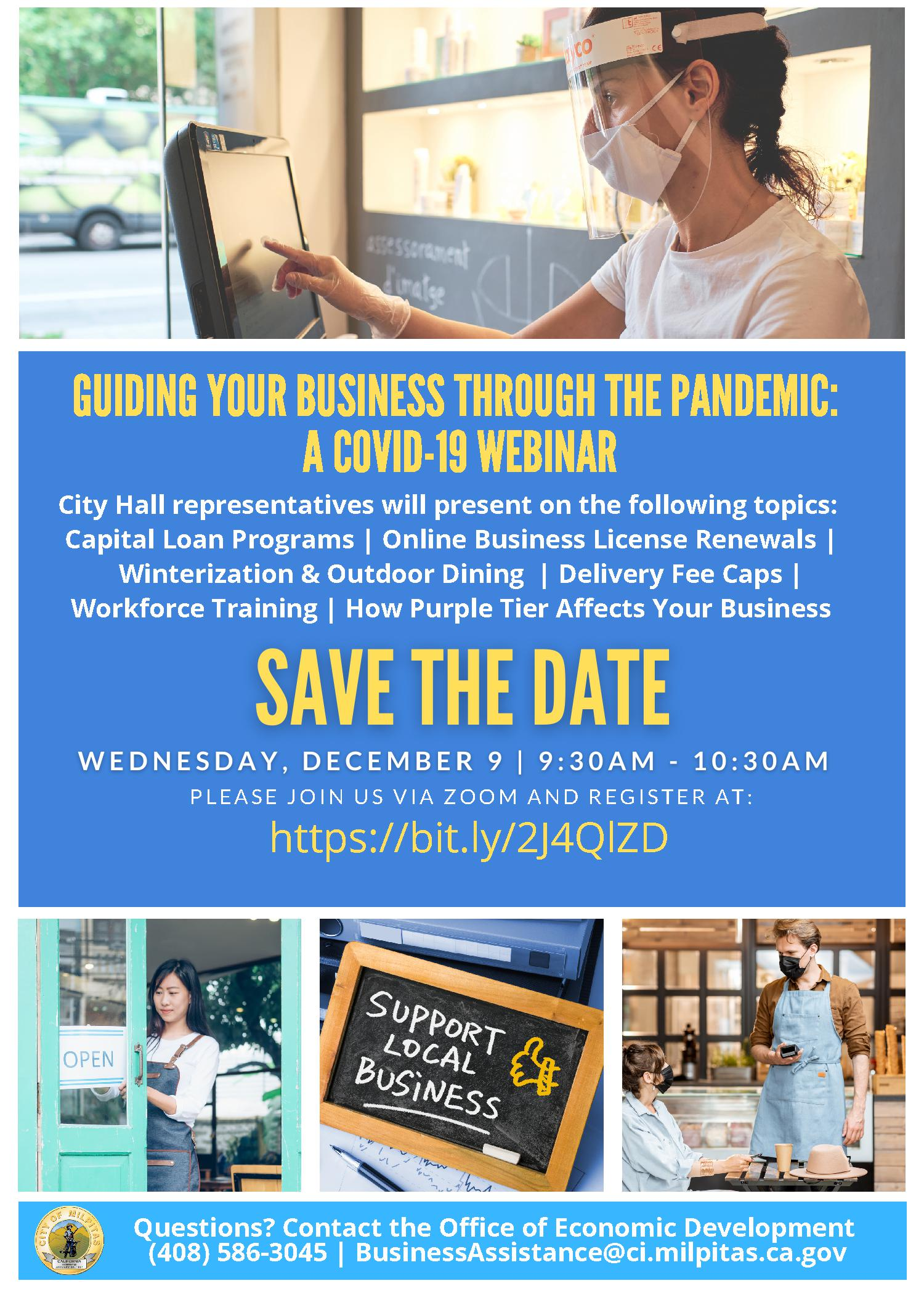 12/09 Milpitas Economic Development Office COVID-19 Business Webinar